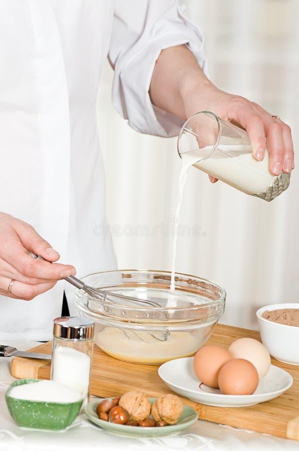 Cozinhando o alimento imagem de stock