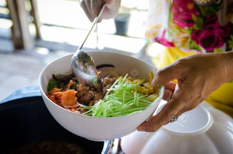 Cozinhando o alimento de Ásia imagens de stock royalty free