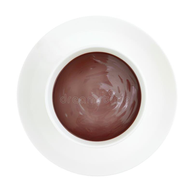 Cozinhando o copo do chocolate quente fotografia de stock royalty free