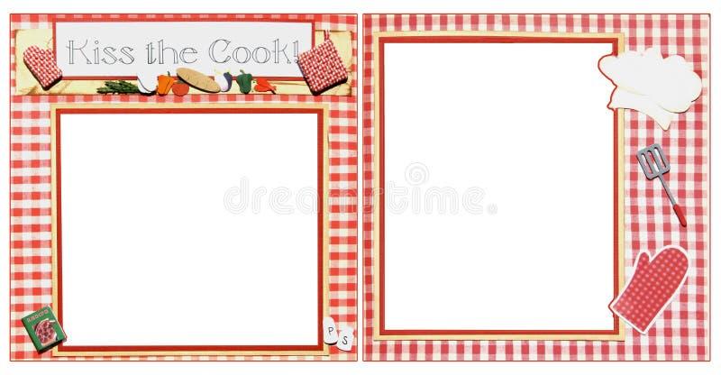 Cozinhando o molde do frame do Scrapbook ilustração royalty free
