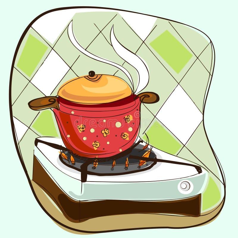 Cozinhando o vetor ilustração stock