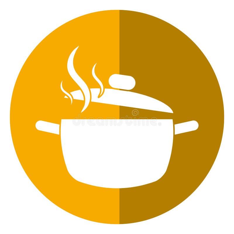 Cozinhando a sombra do alimento da cozinha do potenciômetro ilustração royalty free