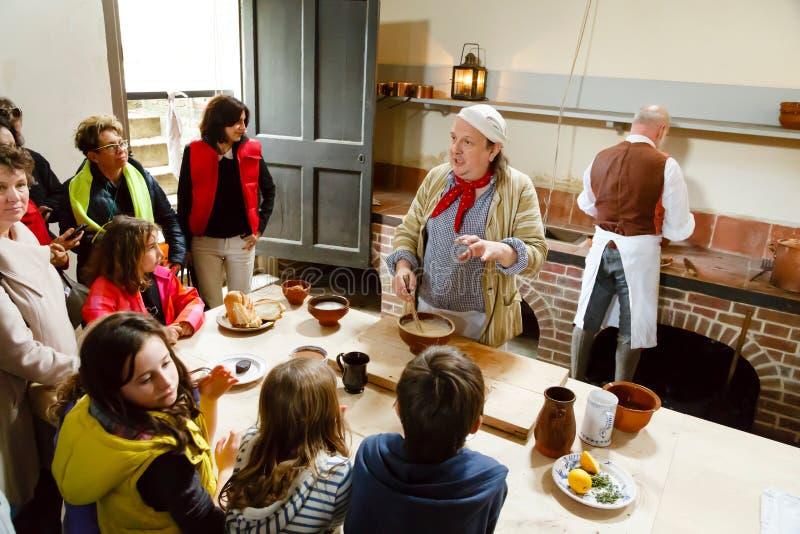 Cozinhas reais no palácio de Kew fotos de stock