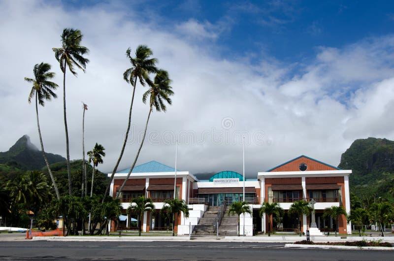 Cozinhe Islands Minister da construção de justiça em Avarua Rarotonga imagem de stock royalty free