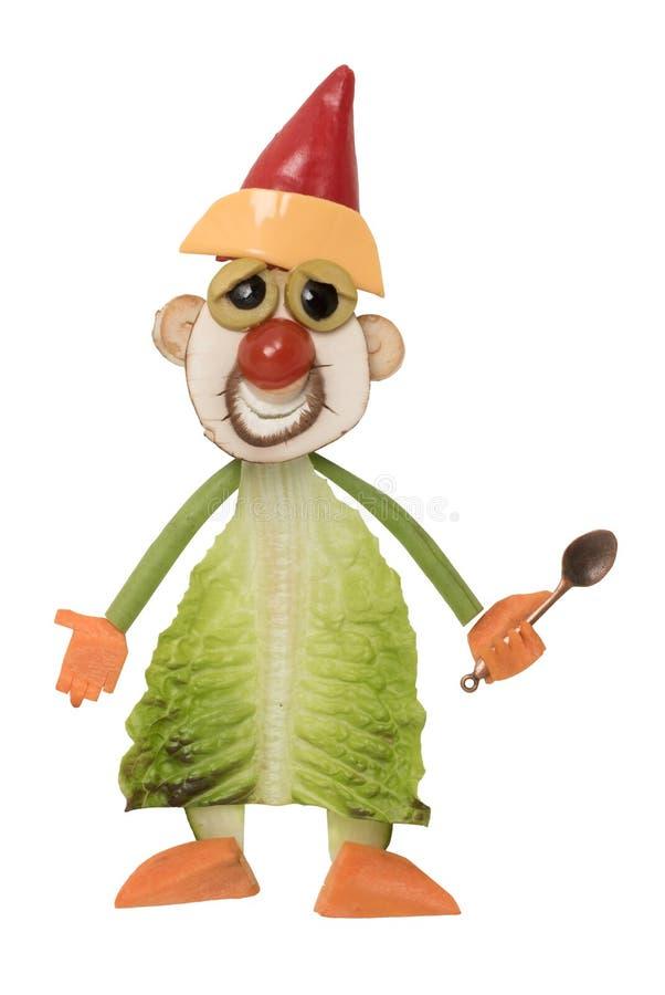 Cozinhe no chapéu de Santa feito com legumes frescos foto de stock royalty free