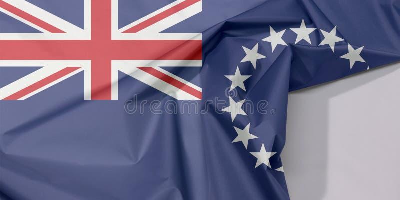 Cozinhe o crepe e o vinco da bandeira da tela de Islands com espaço branco foto de stock royalty free