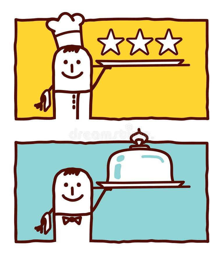 Cozinheiro & serviço ilustração do vetor