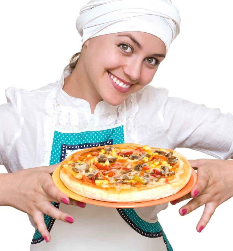 Cozinheiro atrativo imagem de stock royalty free