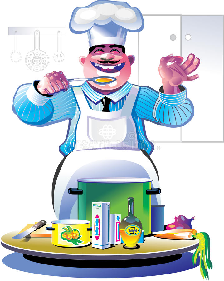 Download Cozinheiro chefe ilustração do vetor. Ilustração de comer - 12806747