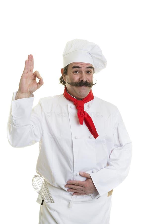 Cozinheiro chefe Approval imagens de stock