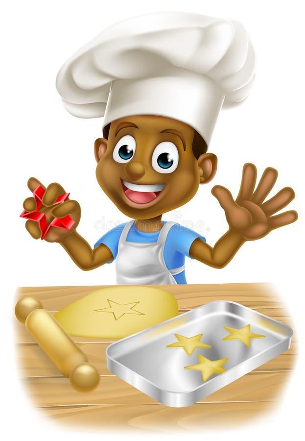 Cozinheiro chefe Baking da criança dos desenhos animados ilustração royalty free