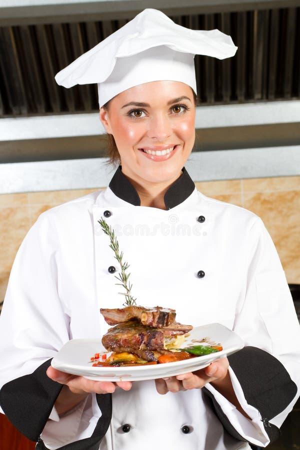 Cozinheiro chefe bonito fotos de stock royalty free
