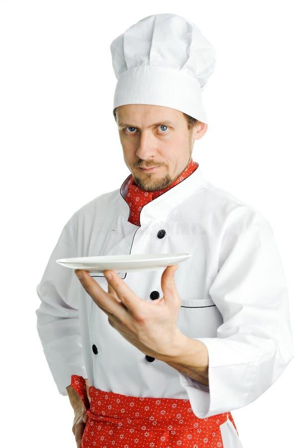 Cozinheiro chefe considerável imagens de stock