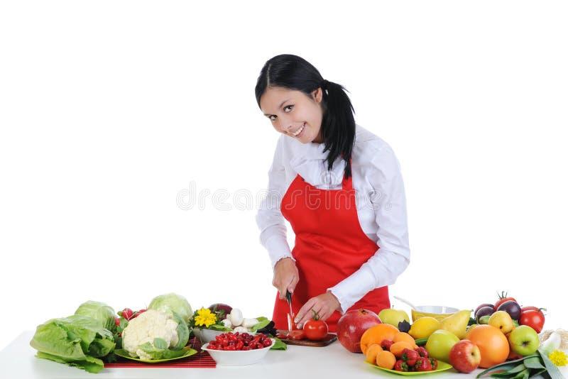 Cozinheiro chefe considerável no uniforme. imagens de stock