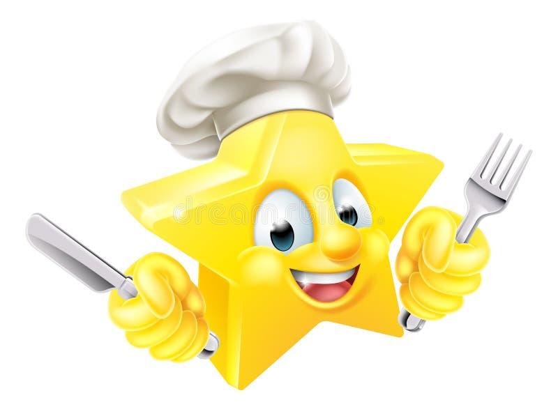 Cozinheiro chefe da estrela dos desenhos animados ilustração stock