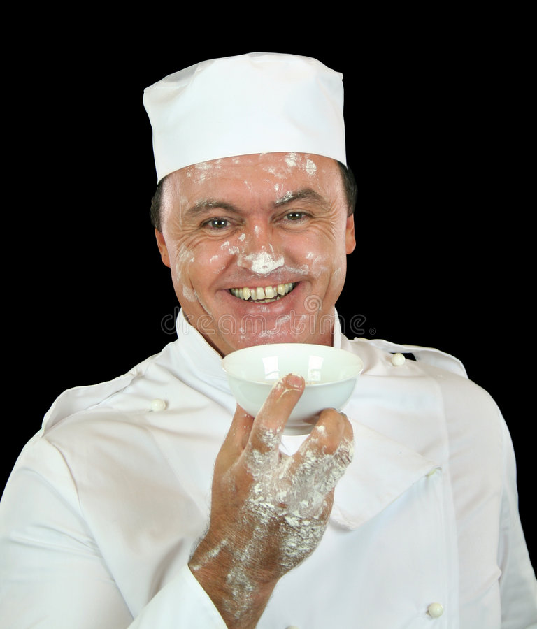 Cozinheiro chefe da farinha fotos de stock royalty free