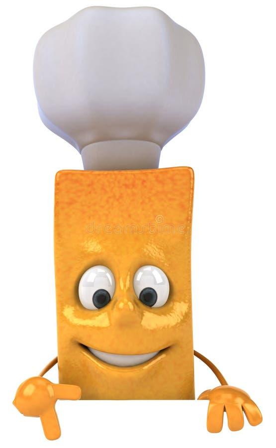Cozinheiro chefe da fritada do francês ilustração do vetor