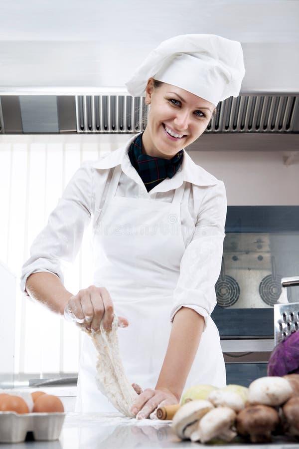 Cozinheiro chefe da mulher fotografia de stock