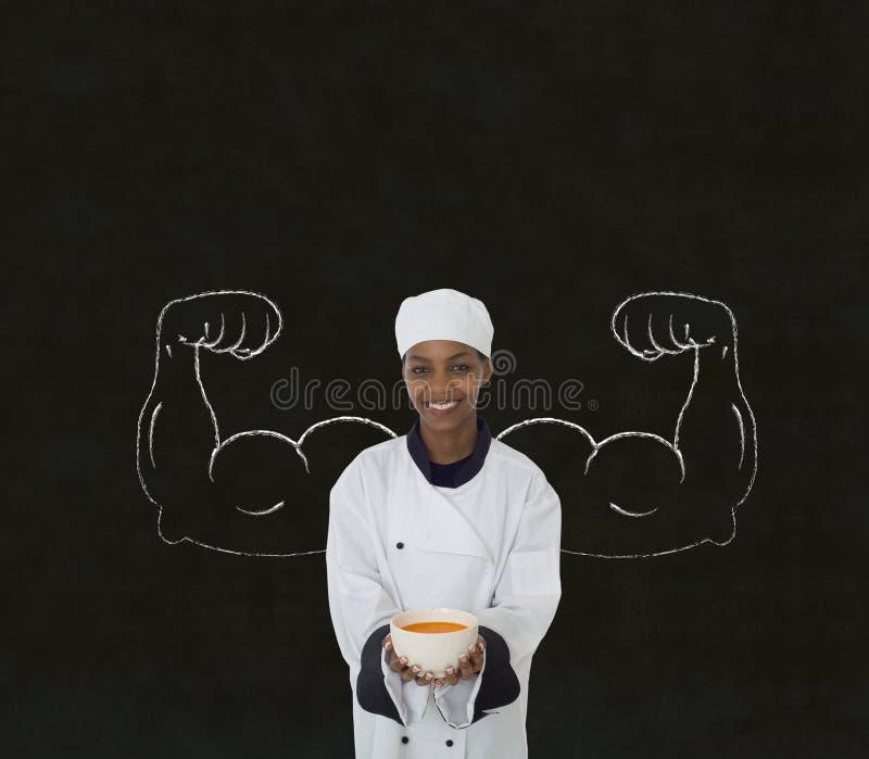 Cozinheiro chefe da mulher fotografia de stock royalty free