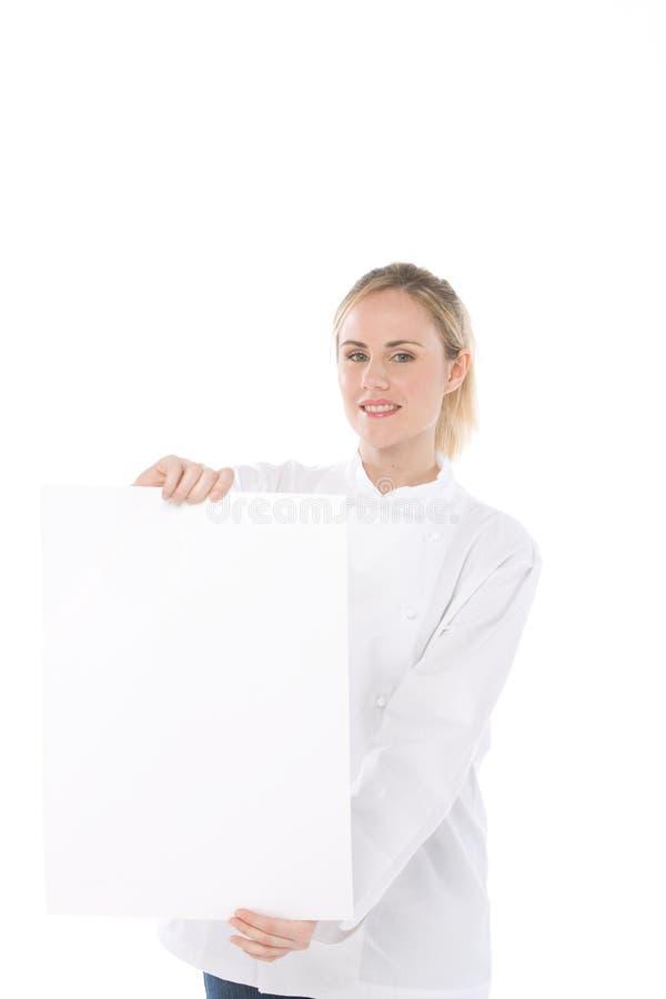 Cozinheiro chefe da mulher imagens de stock