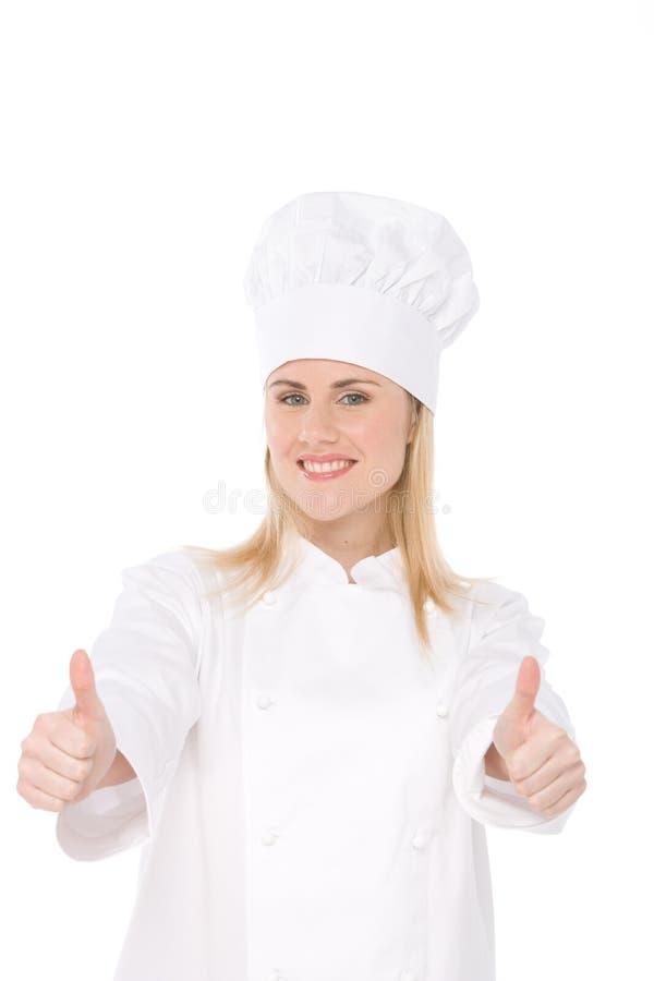 Cozinheiro chefe da mulher imagem de stock