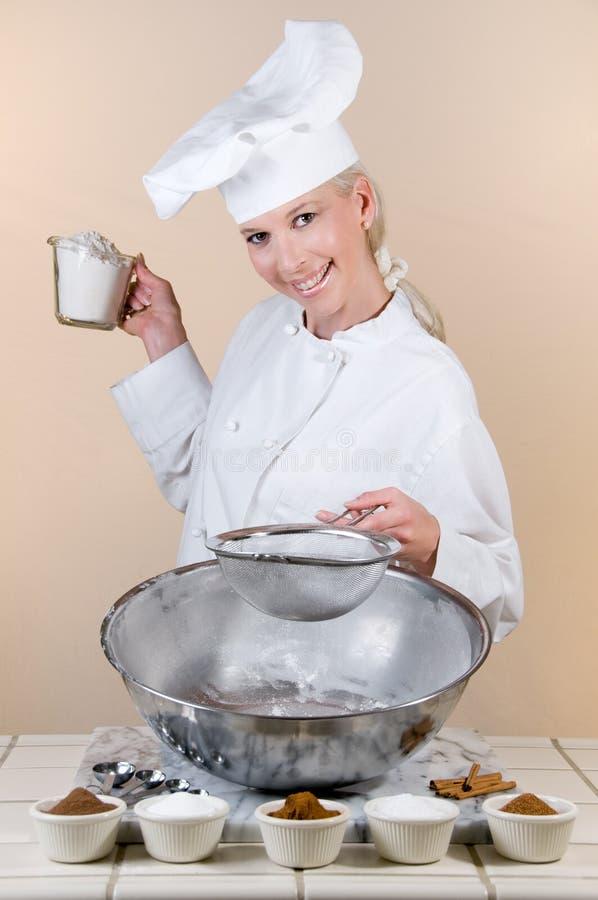 Cozinheiro chefe da torta fotografia de stock
