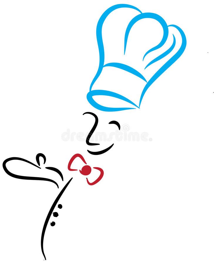 Cozinheiro chefe de sorriso ilustração stock