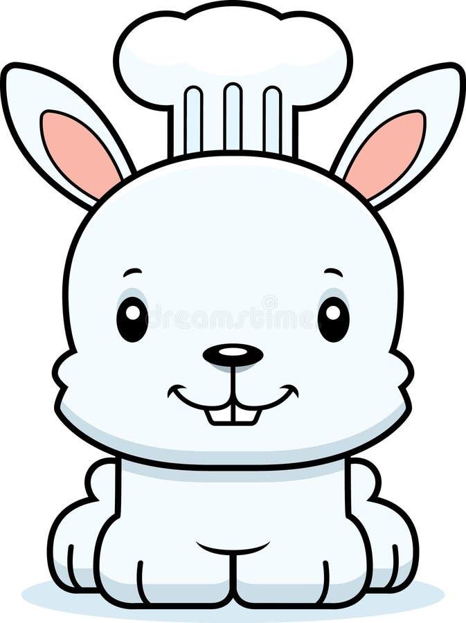 Cozinheiro chefe de sorriso Bunny dos desenhos animados ilustração do vetor