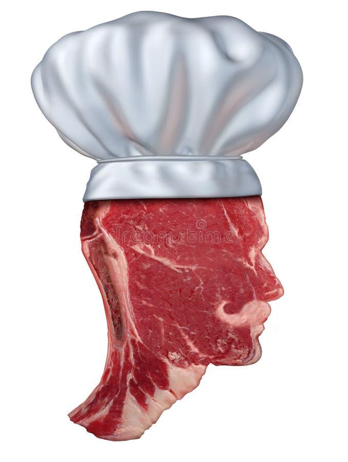 Cozinheiro chefe do assado ilustração stock