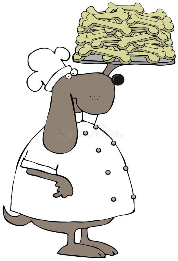 Cozinheiro chefe do biscoito de cão ilustração royalty free