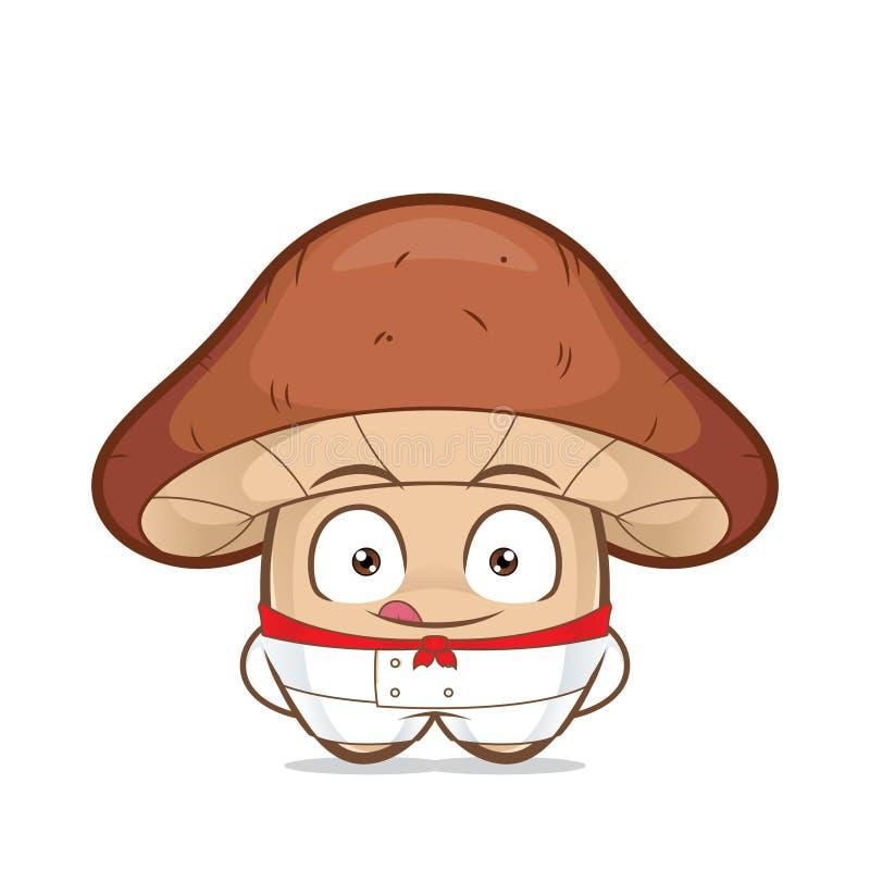 Cozinheiro chefe do cogumelo ilustração do vetor