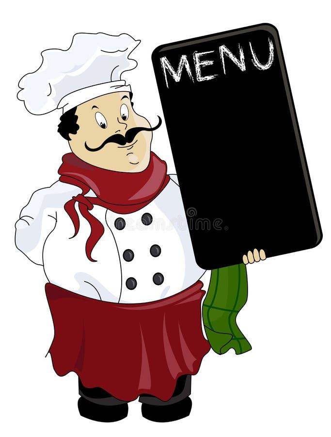 Cozinheiro chefe do italiano do vetor ilustração stock