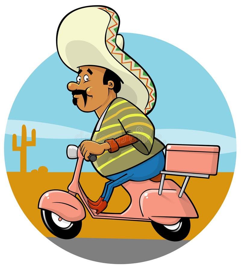 Cozinheiro chefe do mexicano da entrega ilustração royalty free