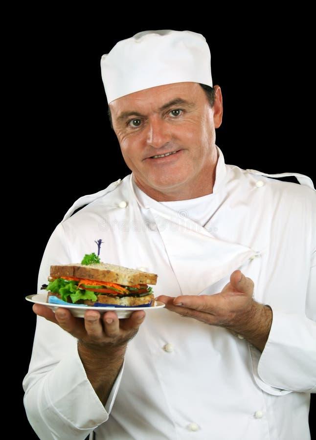 Cozinheiro chefe do sanduíche imagem de stock royalty free