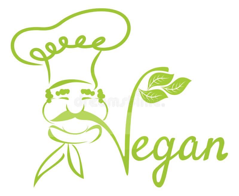 Cozinheiro chefe do vegetariano ilustração stock