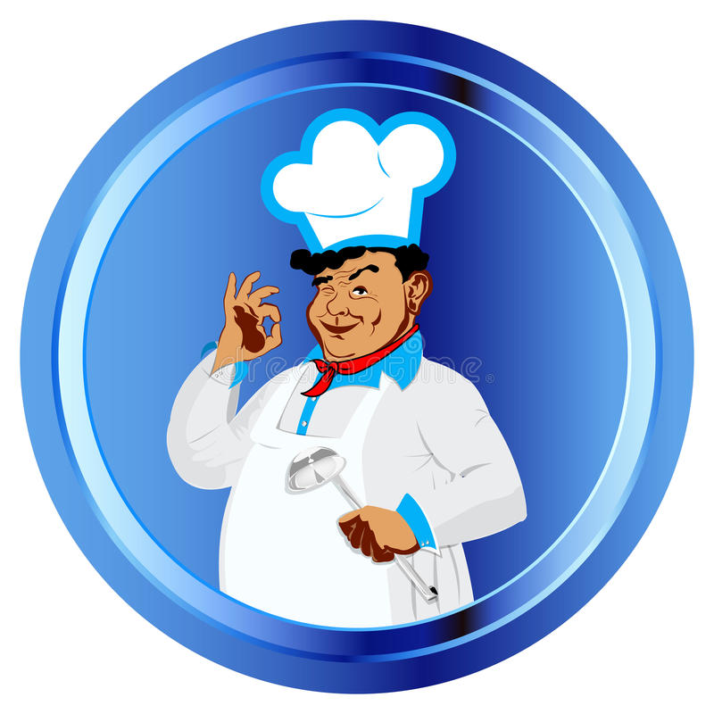 Cozinheiro chefe engraçado ilustração royalty free