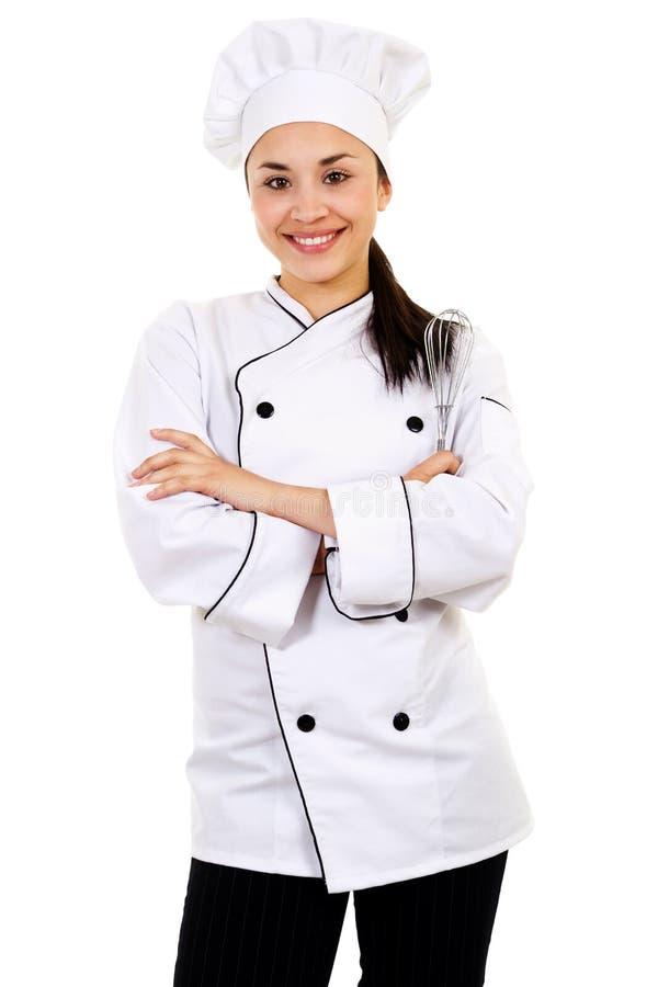 Cozinheiro chefe fêmea imagem de stock