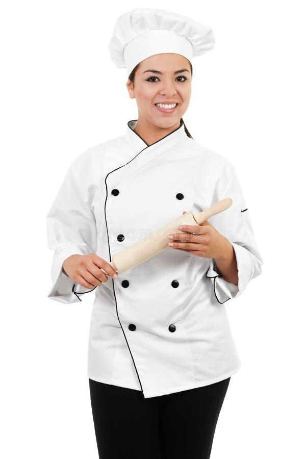 Cozinheiro chefe fêmea fotografia de stock