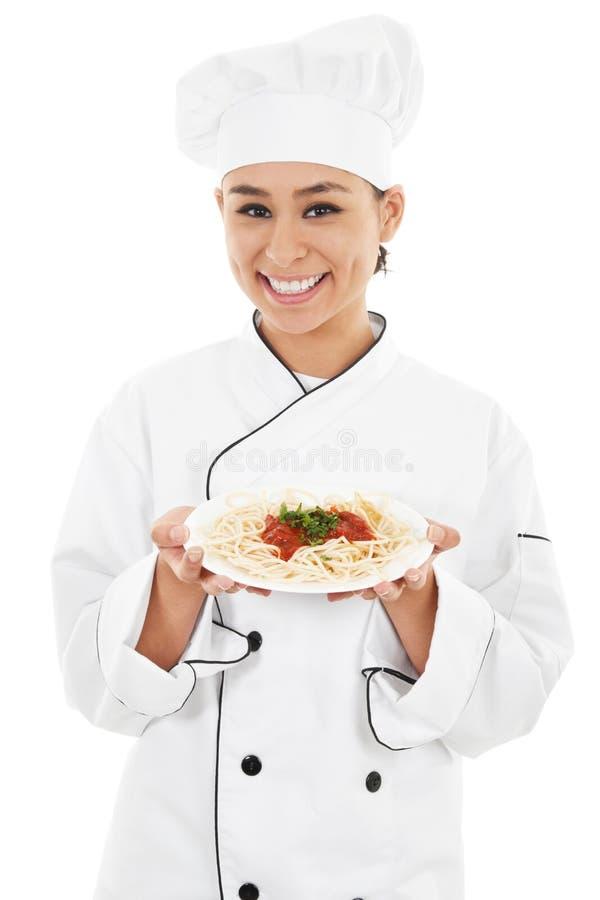 Cozinheiro chefe fêmea imagens de stock