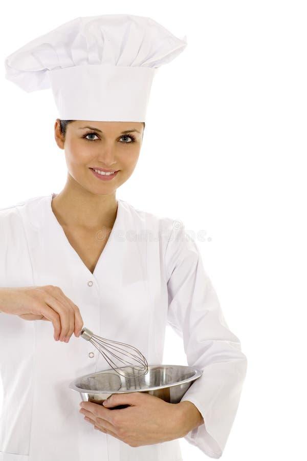 Cozinheiro chefe fêmea imagem de stock royalty free