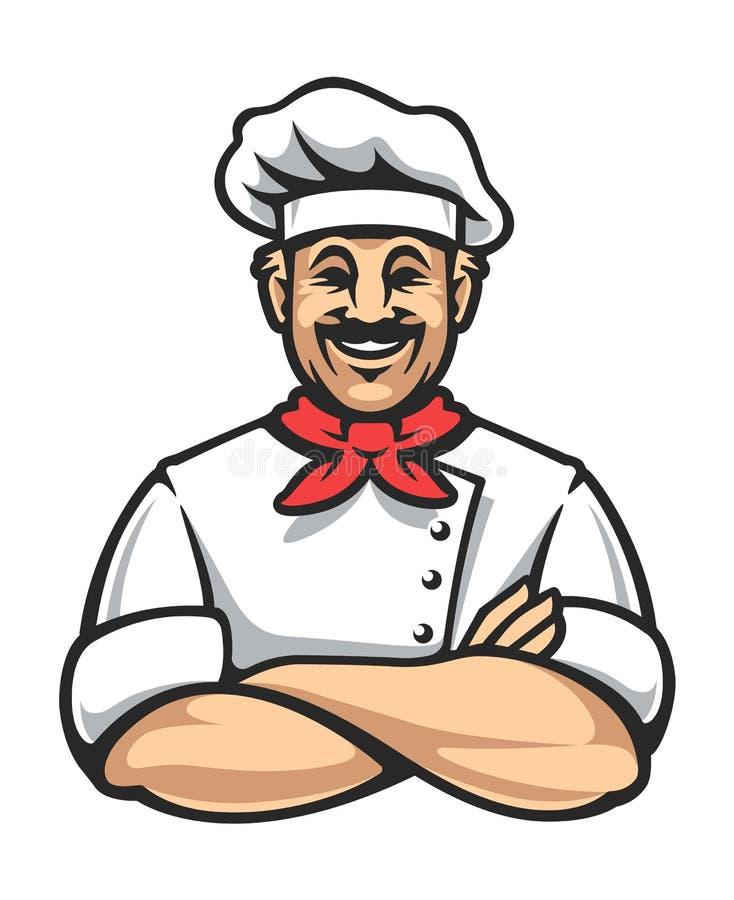 Cozinheiro chefe feliz Vetora Icon ilustração stock