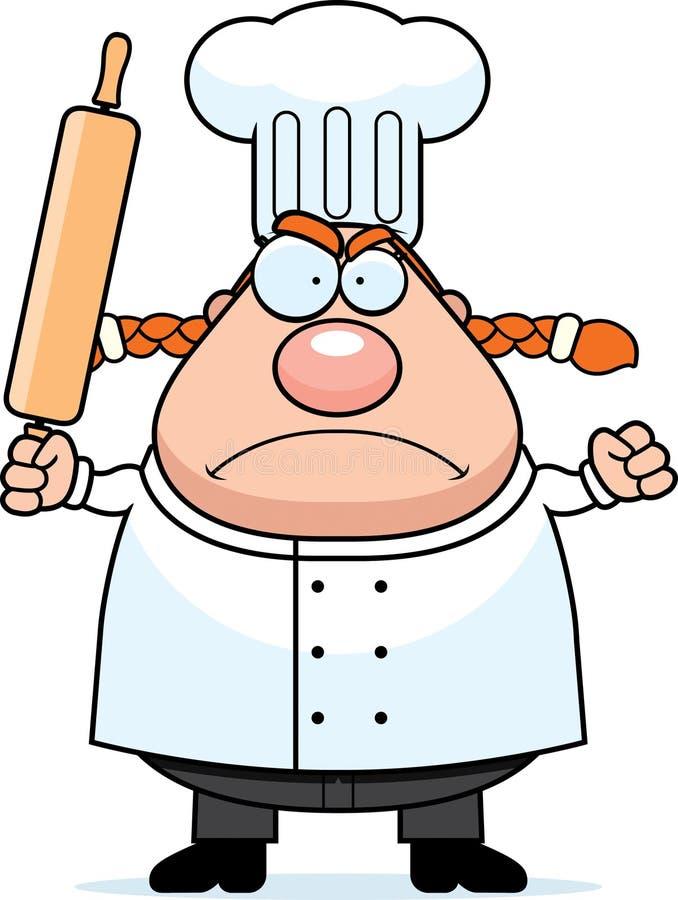 Cozinheiro chefe irritado ilustração do vetor