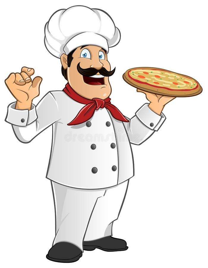 Cozinheiro chefe italiano ilustração do vetor