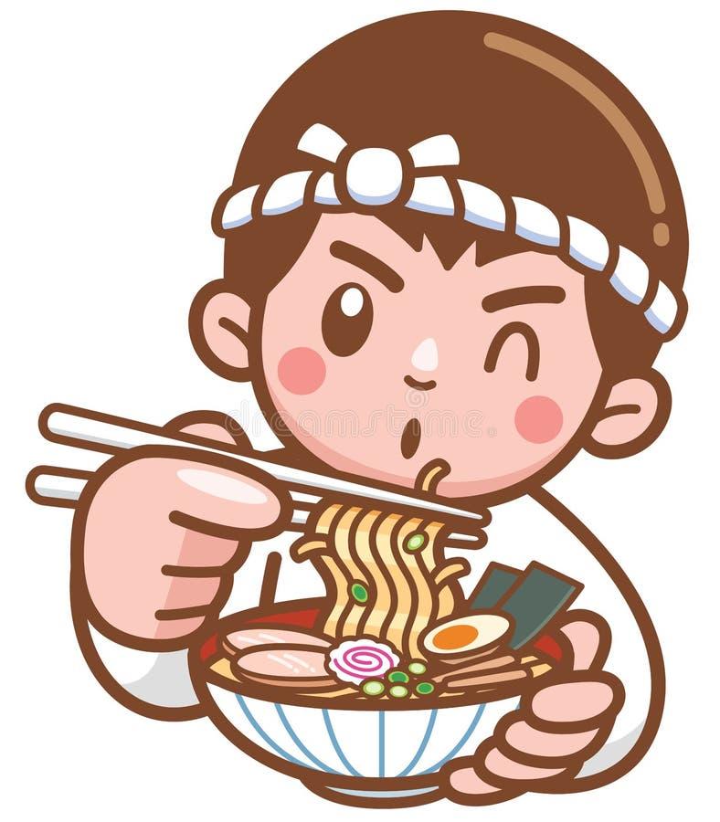 Cozinheiro chefe Japanese ilustração royalty free