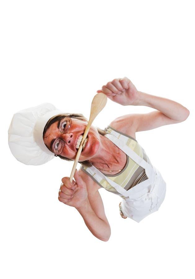 Cozinheiro chefe louco fotos de stock royalty free