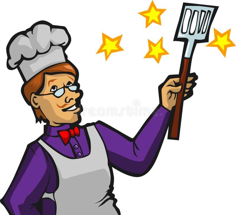 Cozinheiro chefe mágico imagens de stock