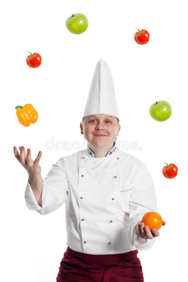 Cozinheiro chefe masculino foto de stock royalty free