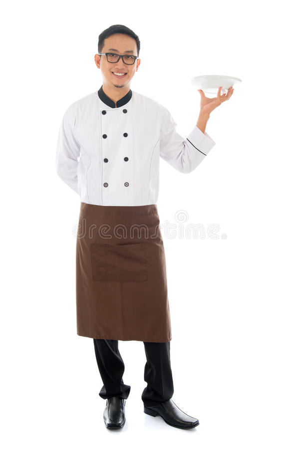 Cozinheiro chefe masculino asiático foto de stock royalty free