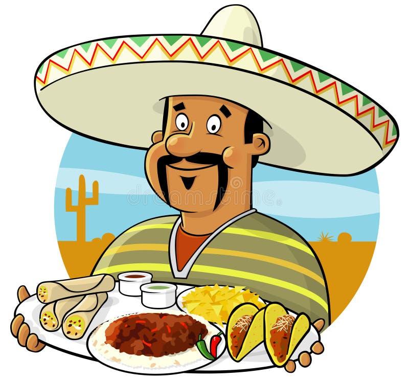 Cozinheiro chefe mexicano ilustração royalty free