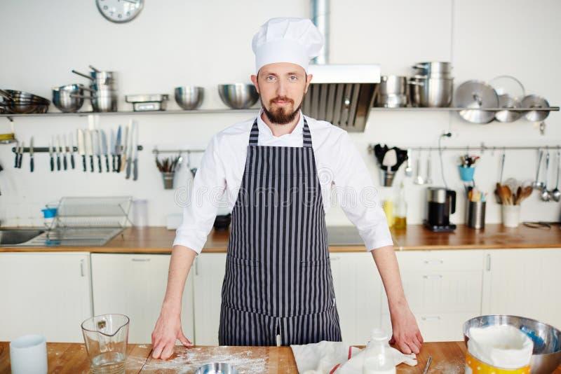 Cozinheiro chefe no local de trabalho fotos de stock